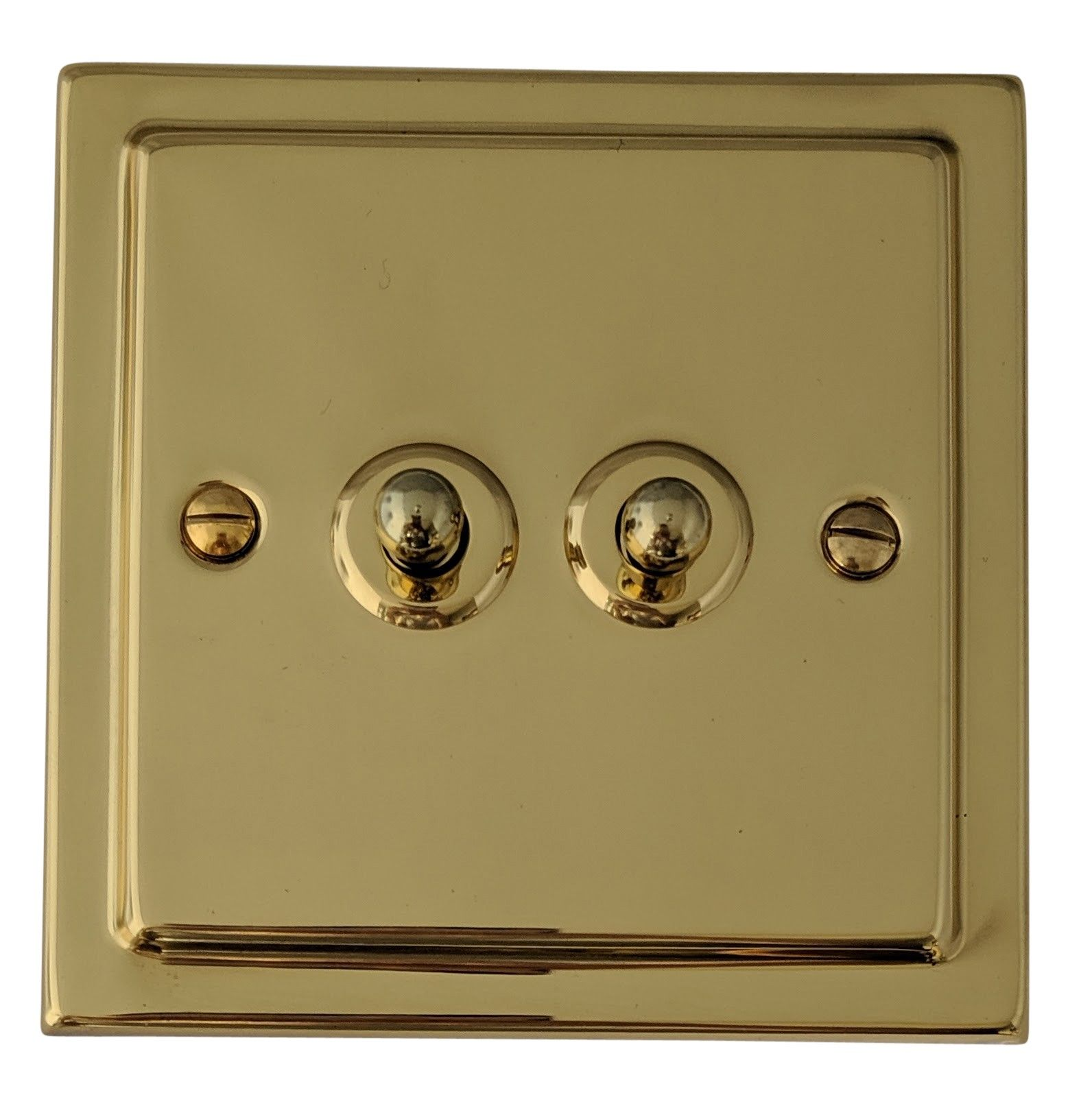 G Amp H Tb282 Trimline Victorian Polished Brass 2 Gang 1 Or 2