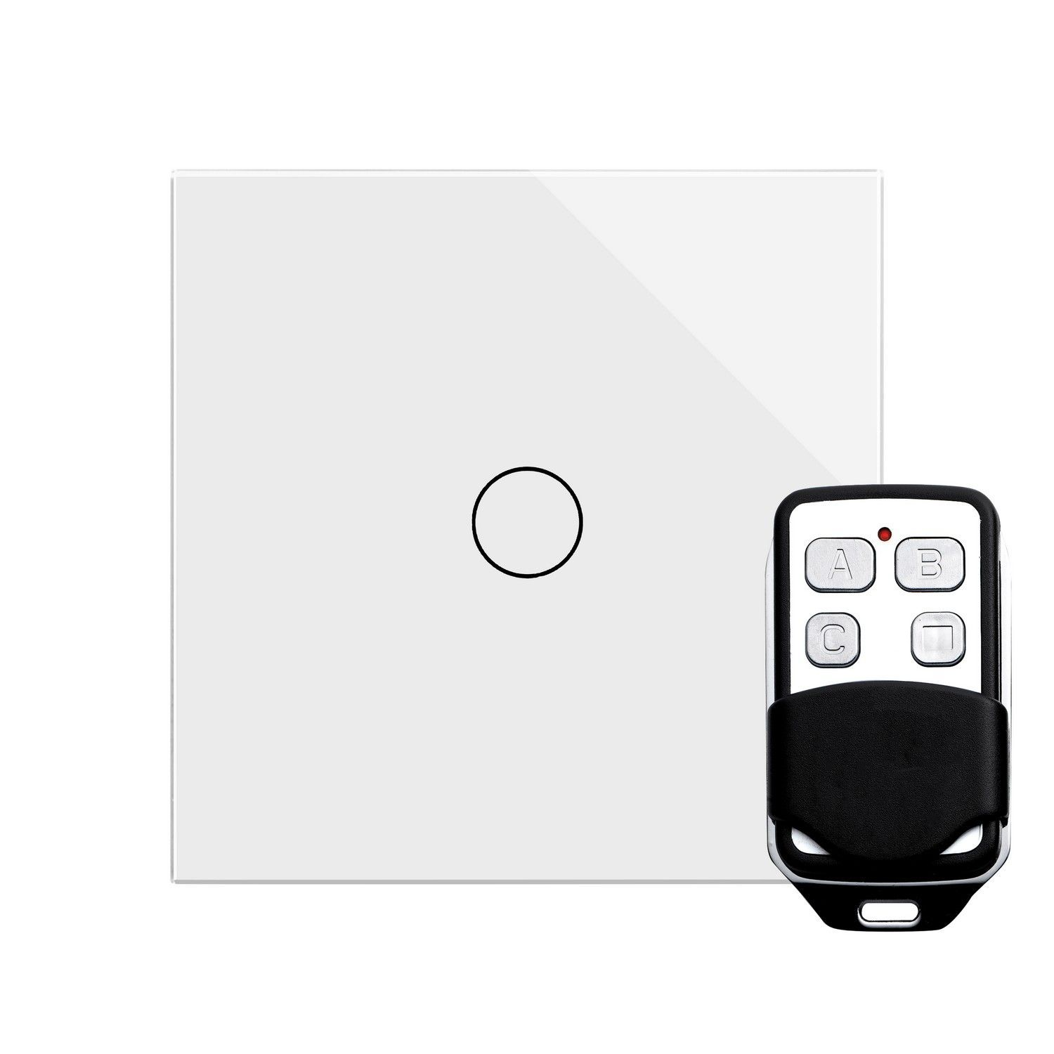 retrotouch touch remote on off light switch 1 gang 1 way white glass pg 00360 ashdown light. Black Bedroom Furniture Sets. Home Design Ideas