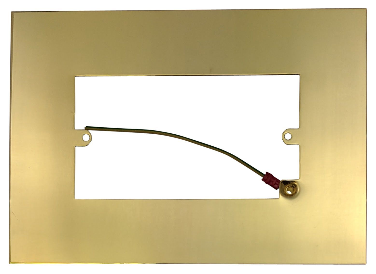 G Amp H 810b Polished Brass Finger Plate Surround 212mm X