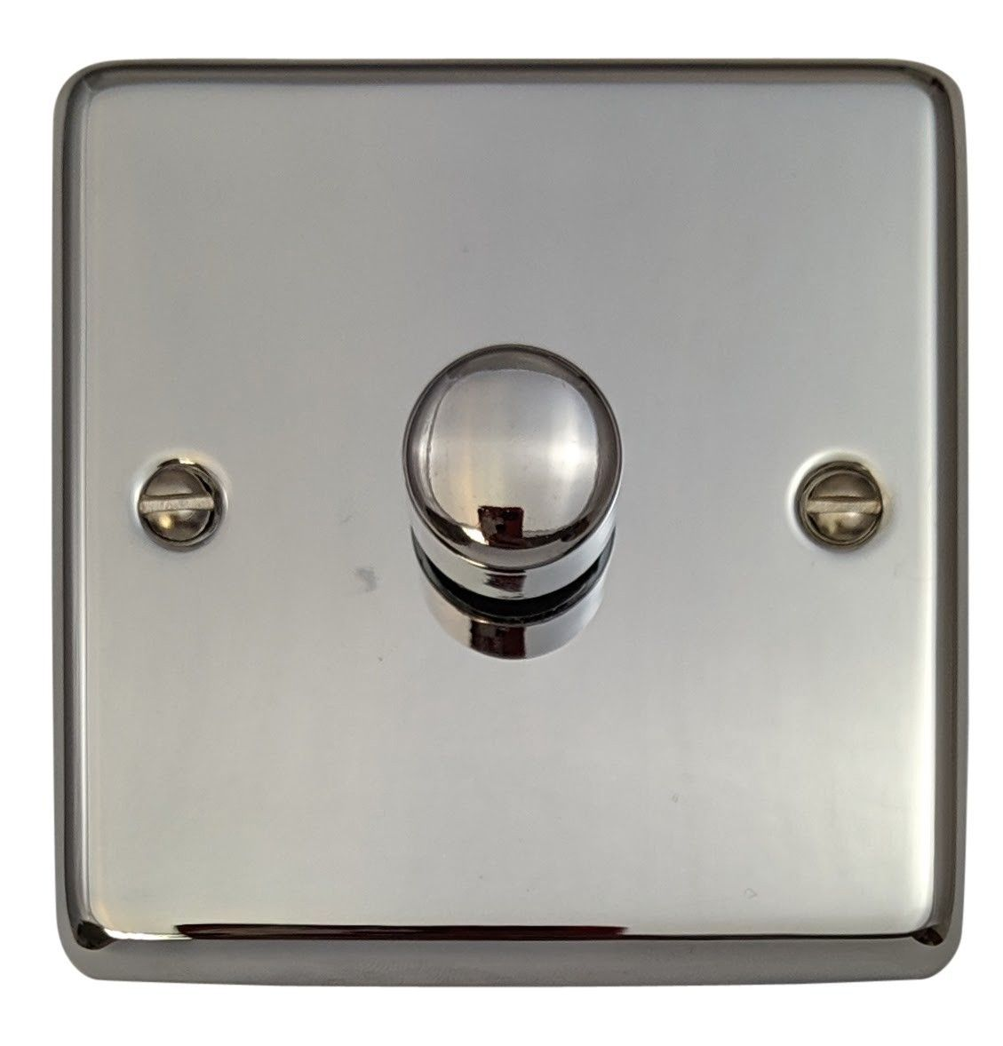G&H CC15 Standard Plate Polished Chrome 1 Gang 1 or 2 Way 700W Dimmer Switch Single Plate