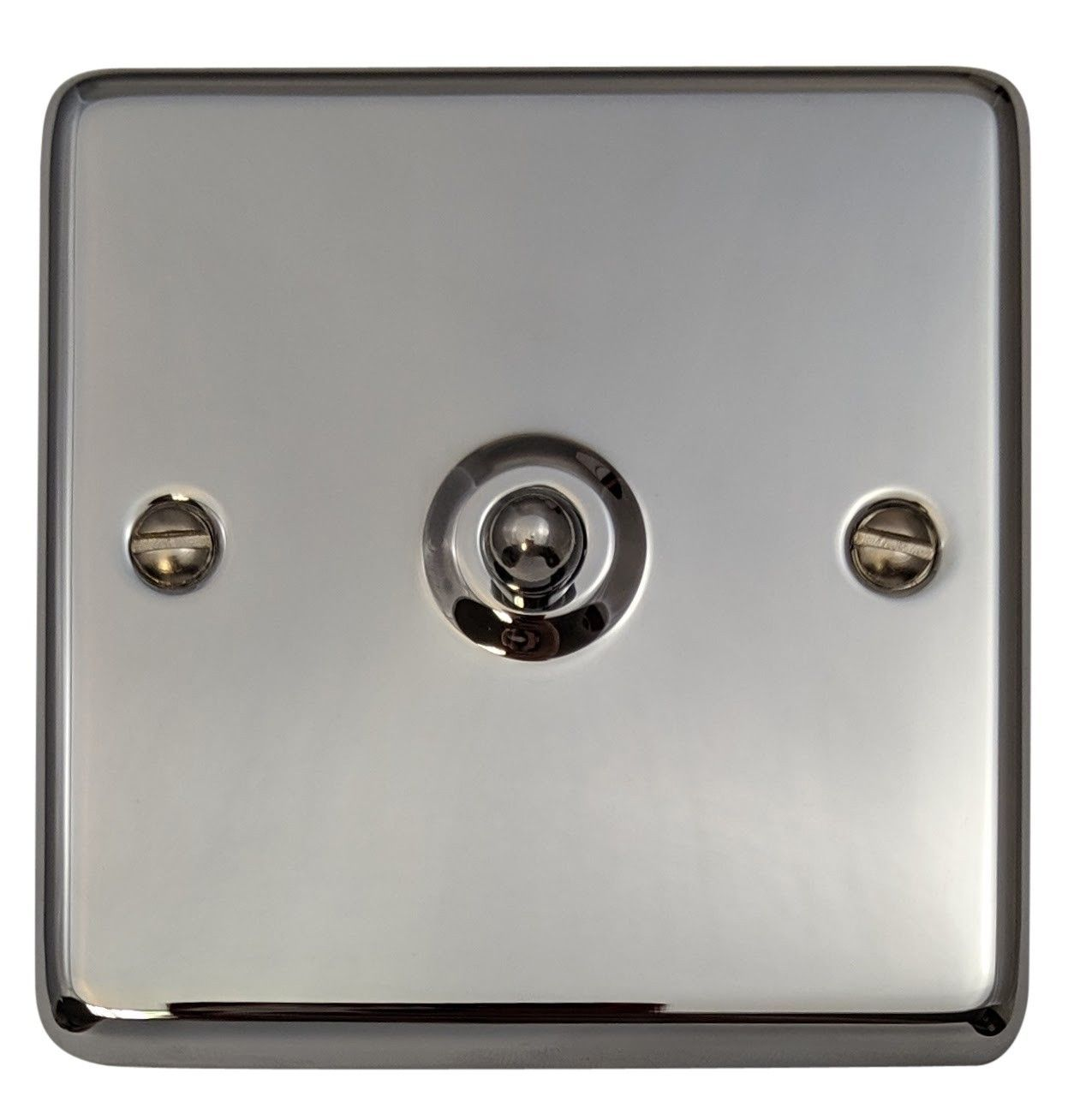 G&H CC281 Standard Plate Polished Chrome 1 Gang 1 or 2 Way Toggle Light Switch