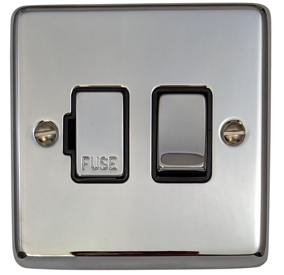 G&H CC357 Standard Plate Polished Chrome 1 Gang Fused Spur 13A Switched