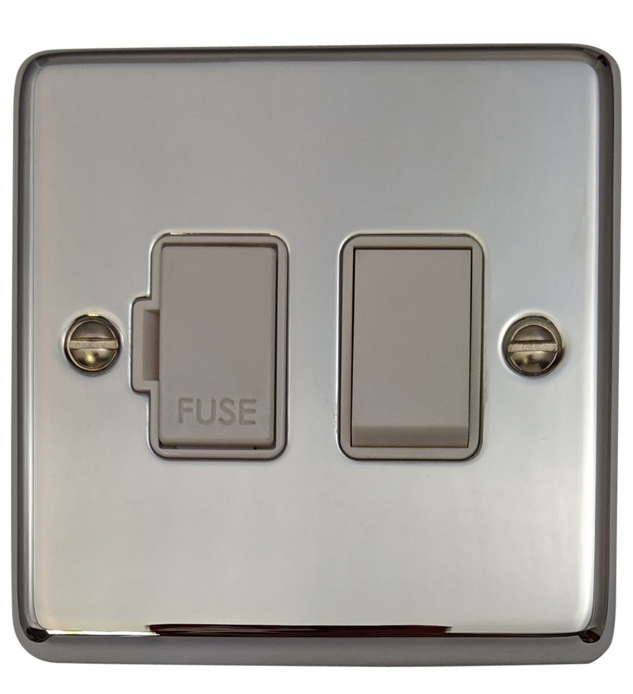 G&H CC57W Standard Plate Polished Chrome 1 Gang Fused Spur 13A Switched
