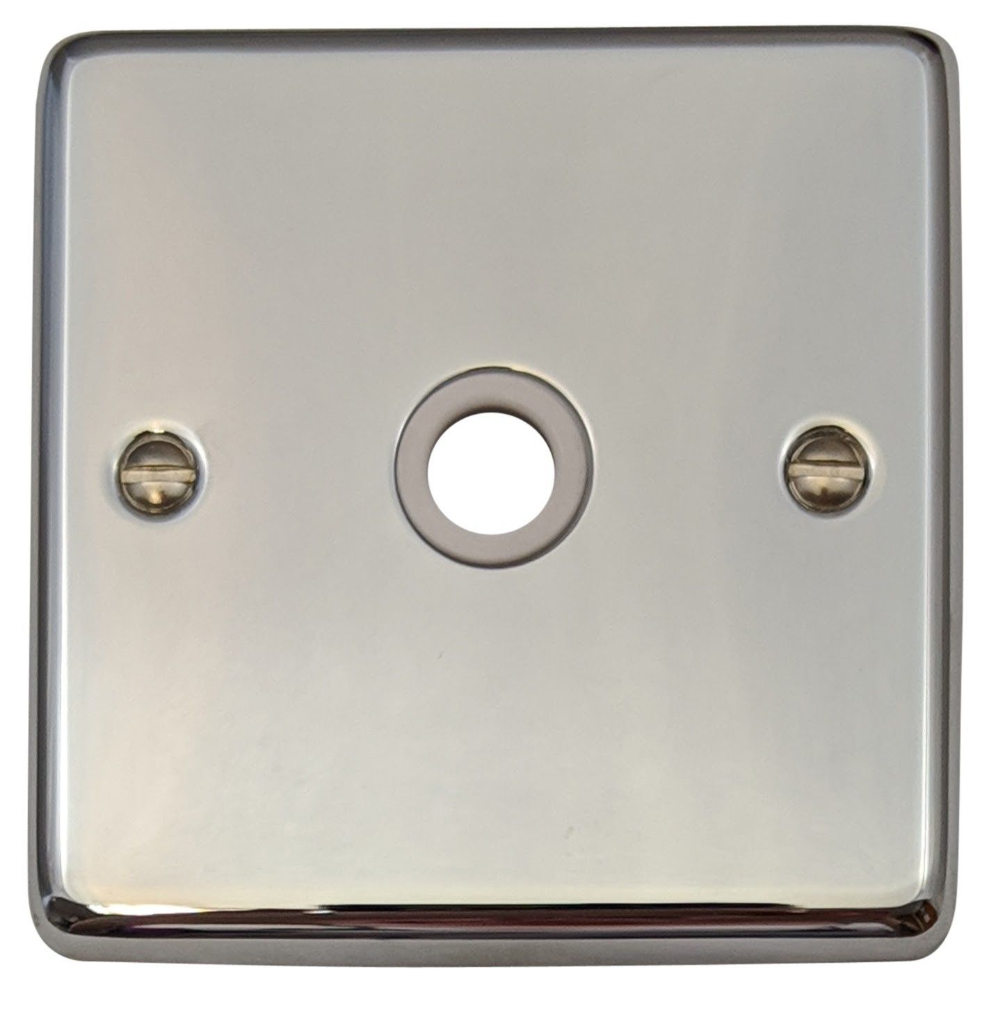 G&H CC79W Standard Plate Polished Chrome 1 Gang Flex Outlet Plate