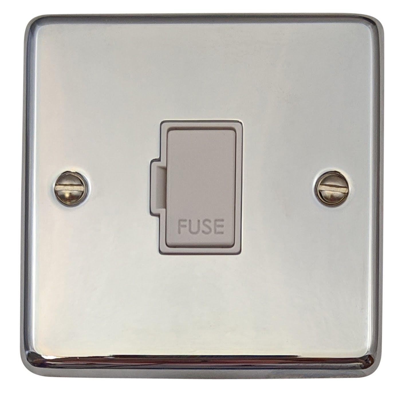 G&H CC90W Standard Plate Polished Chrome 1 Gang Fused Spur 13A Unswitched