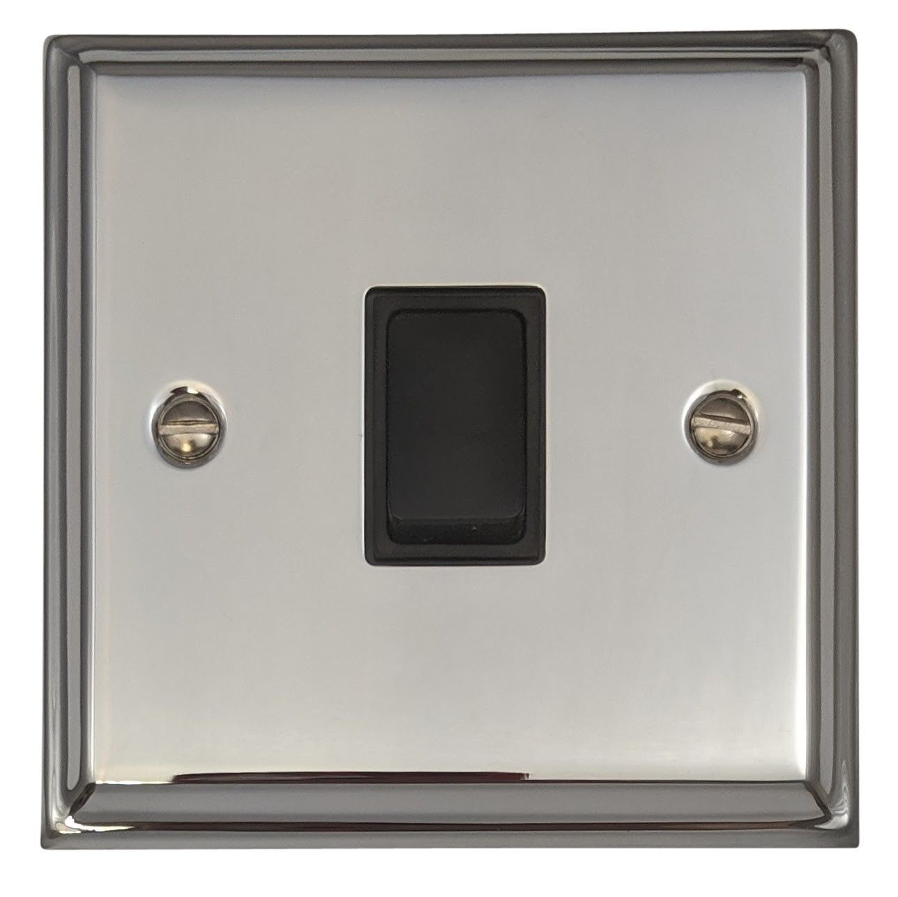 Rocker Light Switch >> G H Dc1b Deco Plate Polished Chrome 1 Gang 1 Or 2 Way Rocker Light Switch