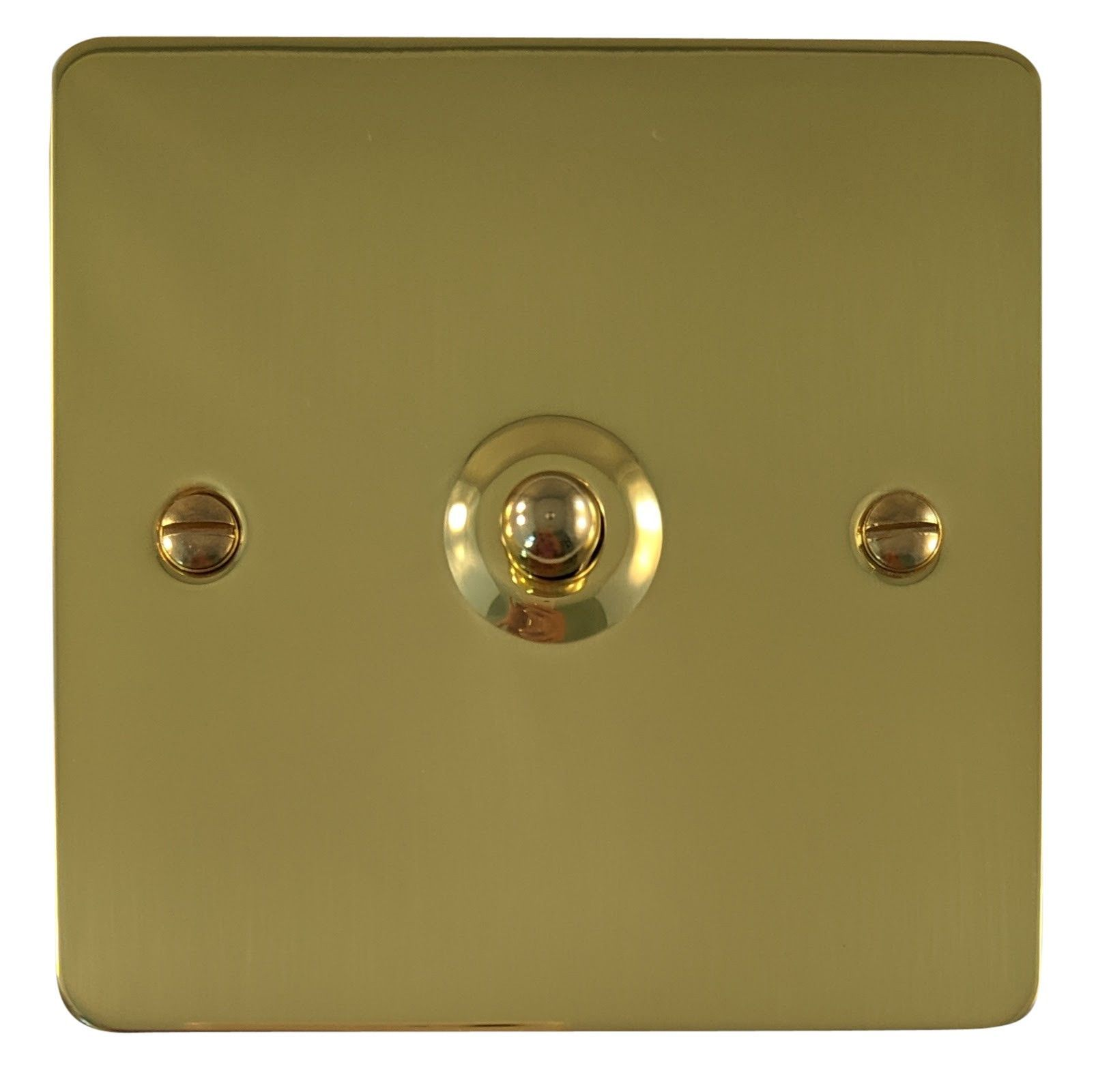 G&H FB285 Flat Plate Polished Brass 1 Gang Intermediate Toggle Light Switch