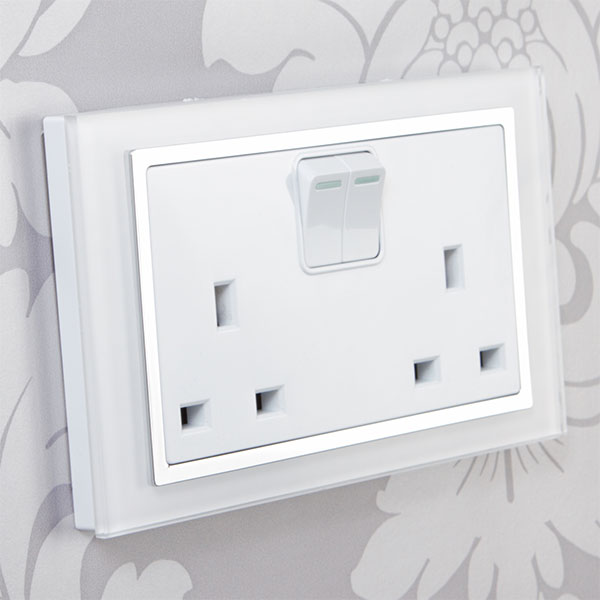 Crystal Glass Plug Sockets