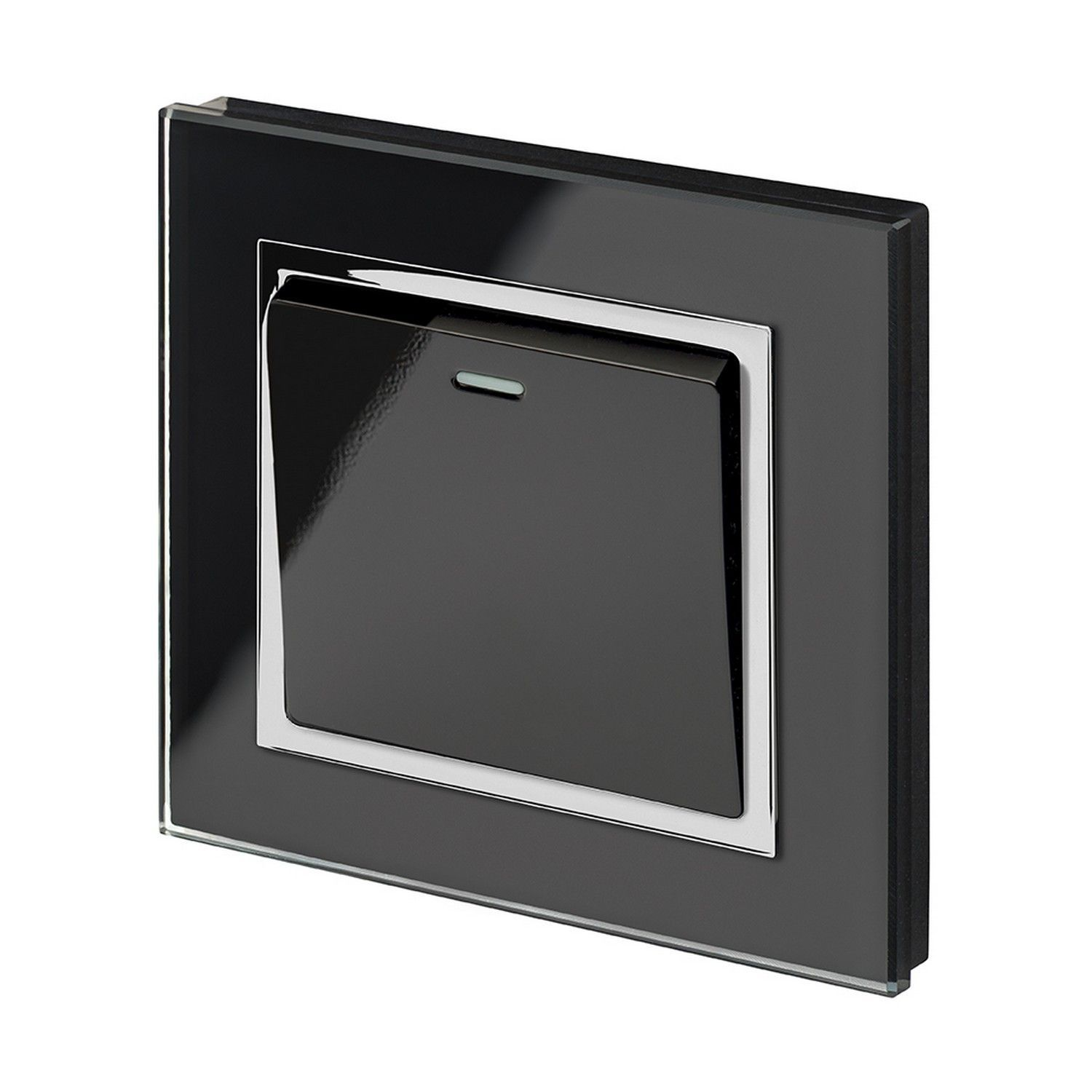 RetroTouch 1 Gang 1 Way 10A Pulse Retractive Light Switch Black ...